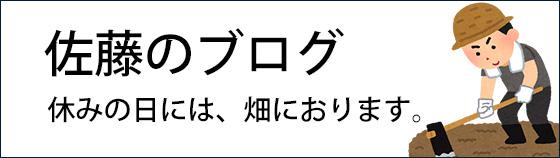佐藤のブログ 休みの日には、畑におります。